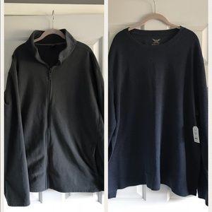 Other - NWT Men's shirt/fleece set